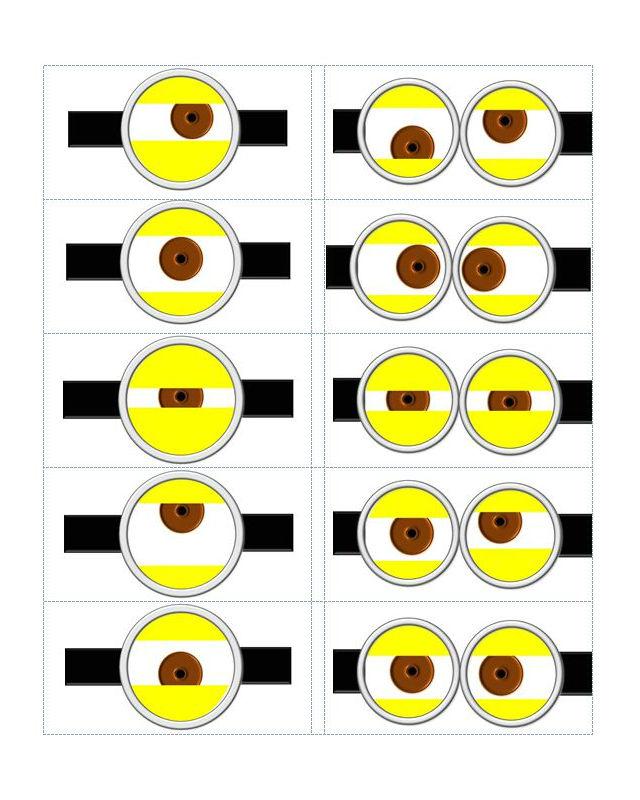 Decoração dos minions para imprimir olhos
