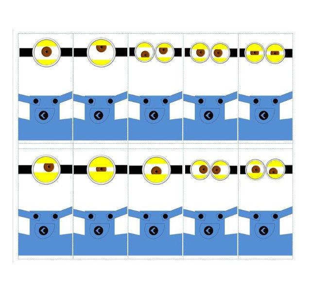 Decoração dos minions para imprimir azul