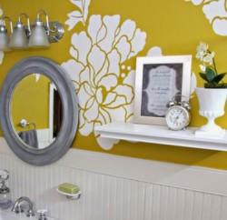 Ideia para Decoração de Banheiro com Papel de Parede
