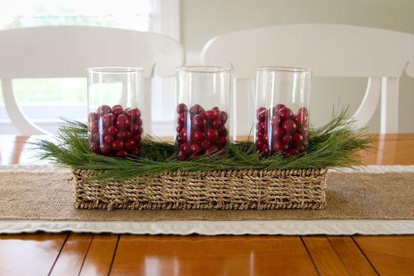 Decora o e projetos decora o simples e barata para o for Homemade christmas table decorations uk