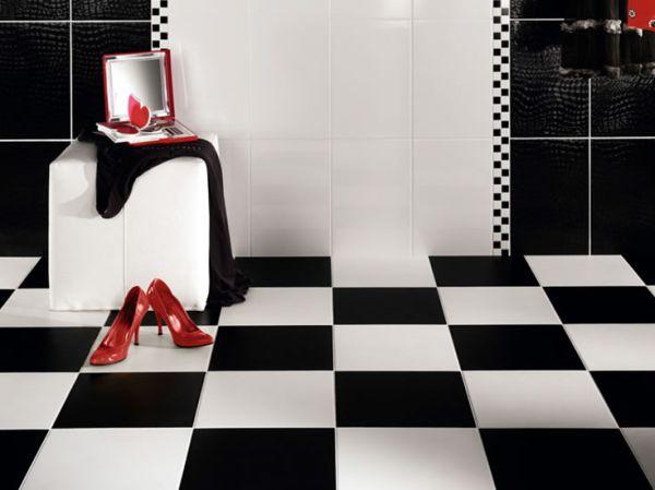 """A decoração de banheiros com azulejos pretos pode sim, ser muito interessante e nada """"pesada"""", ao contrário do que muitos pensam (Foto: cliquetando.xpg.uol.com.br)"""