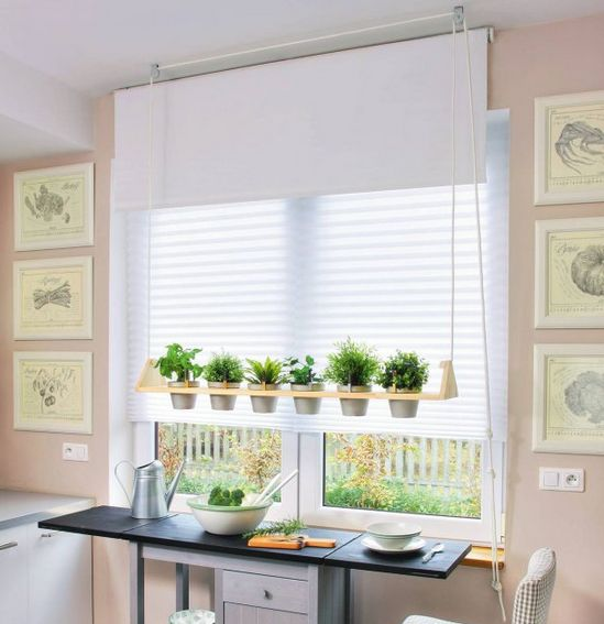 Esta ideia criativa para decorar cozinha com plantas é diferente, mas não é difícil de ser conseguida (Foto: diy-enthusiasts.com)