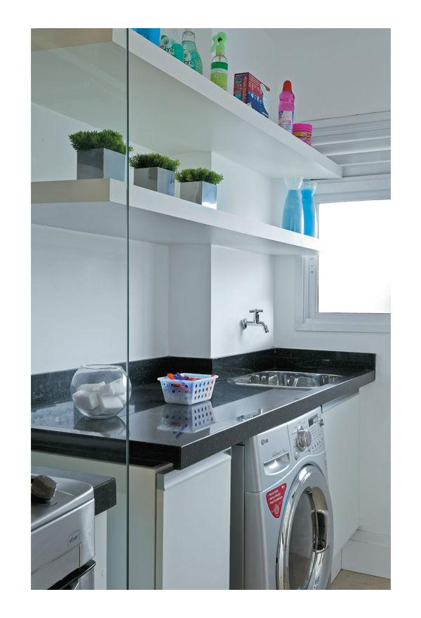 Suficiente Decoração de lavanderia de apartamento pequeno FZ98