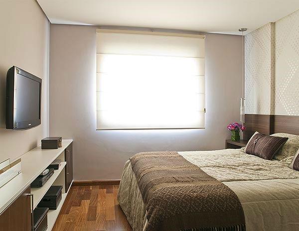 Decoração e Projetos Decoração de quarto de casal pequeno  ~ Ver Fotos De Quarto De Casal Pequeno