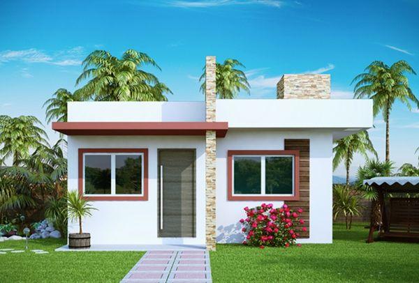 A decoração de fachadas de casas pequenas deve ser pensada com cuidado (Foto: decorandocasas.com.br)