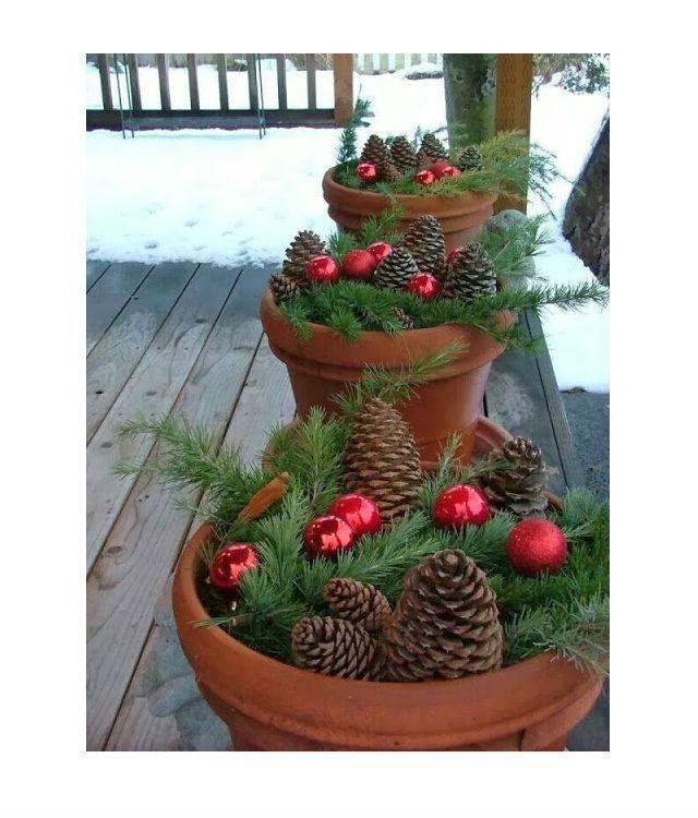 Decoraç u00e3o e Projetos Decoraç u00e3o de Natal simples e barata para jardim -> Decoração De Natal Jardim