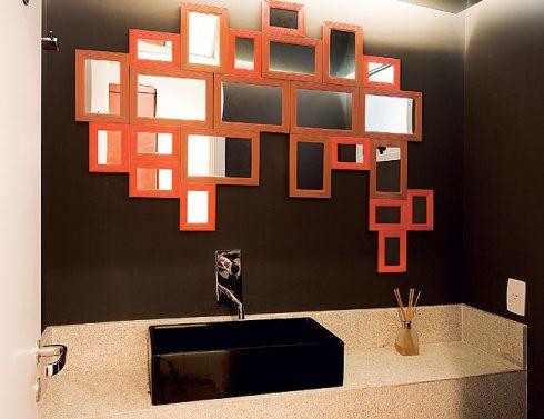 Decoração com espelhos baratos pode ser muito mais interessante do que você imagina (Foto: casadefilo.com)