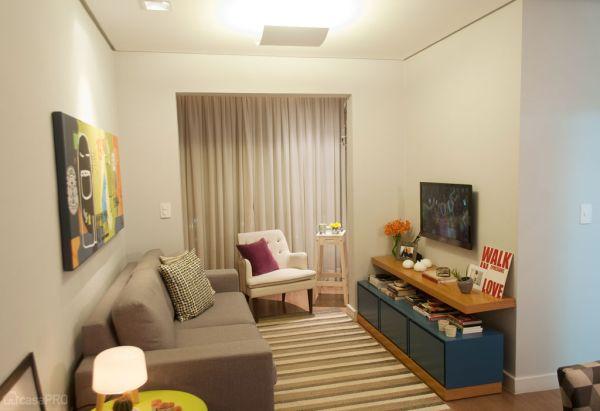 Seguindo dicas de decoração para salas muito pequenas você harmoniza o seu cômodo (Foto: casa.abril.com.br)