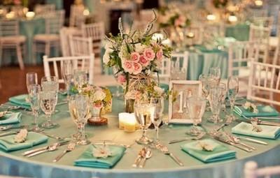 Ideias Simples para Decoração de Casamento Azul e Rosa