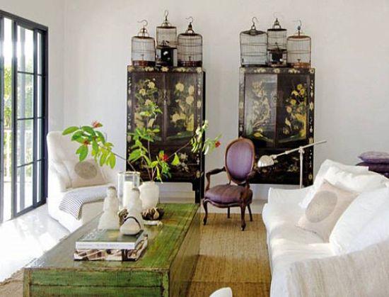 Há muitas ideias de decoração com gaiolas de passarinhos e você pode aderir ao estilo facilmente (Foto: dethorningstem.com)