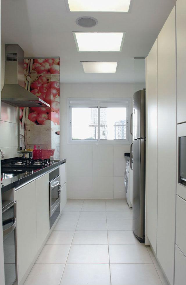 decoracao cozinha e area de servico integradas:Decoração de cozinhas pequenas integradas com área de serviço