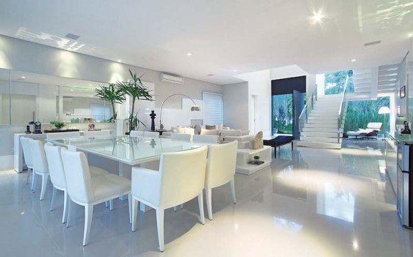 Mesa De Sala De Jantar Branca ~  Projetos – Decoração de Sala de Jantar com Mesa Branca