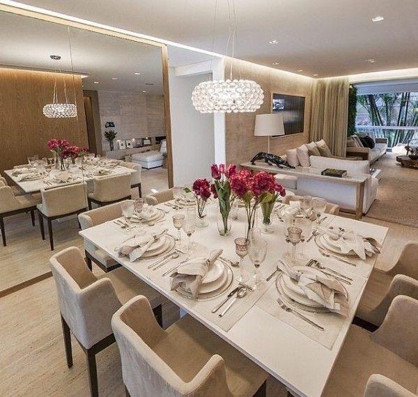 decoracao branca sala : decoracao branca sala: Projetos – Decoração de Sala de Jantar com Mesa Branca