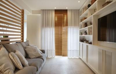 Aposte em divisórias de ambientes residenciais em madeira para decorar (Foto: mmpmovelaria.com.br)
