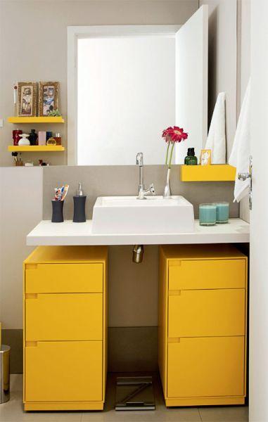 Decoração e Projetos Ideias de Armários Modernos para Banheiros -> Armarinho Banheiro Simples