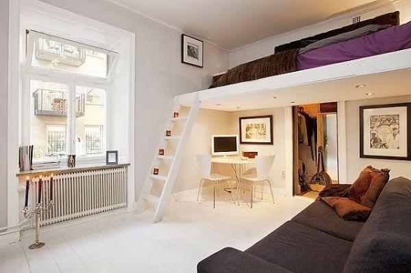 Invista em algumas das ideias de decoração com camas suspensas que estamos disponibilizando para deixar o seu ambiente com mais espaço útil (Foto: arquitrecos.com)