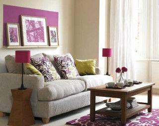 Salas lilás e roxo