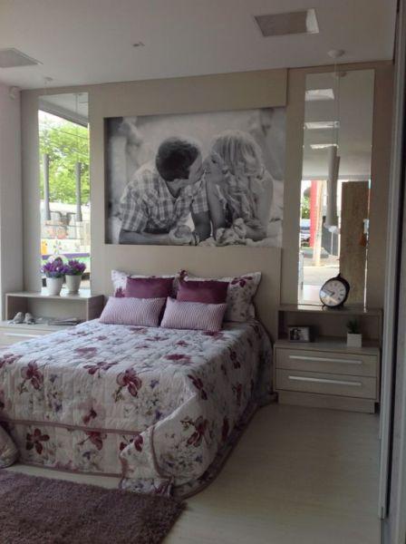Aposte na decoração de quarto de casal com fotos (Foto: pinterest.com)