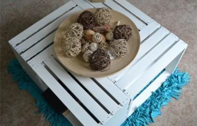 Esta mesa de centro com caixas de madeira pode também manter o seu visual original (Foto: home-dzine.co.za)