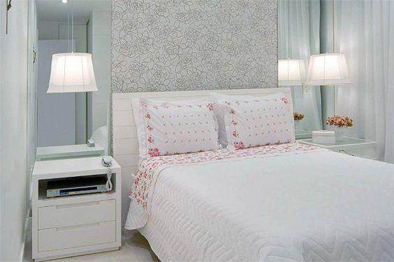 Há lindas ideias para decorar quarto de casal pequeno, invista na que mais se adequar com o seu quarto (Foto: pinterest.com)