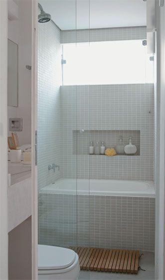 Decoração e Projetos 15 Ideias de Decoração de Banheiro Pequeno com Banheira -> Banheiro Pequeno Spa