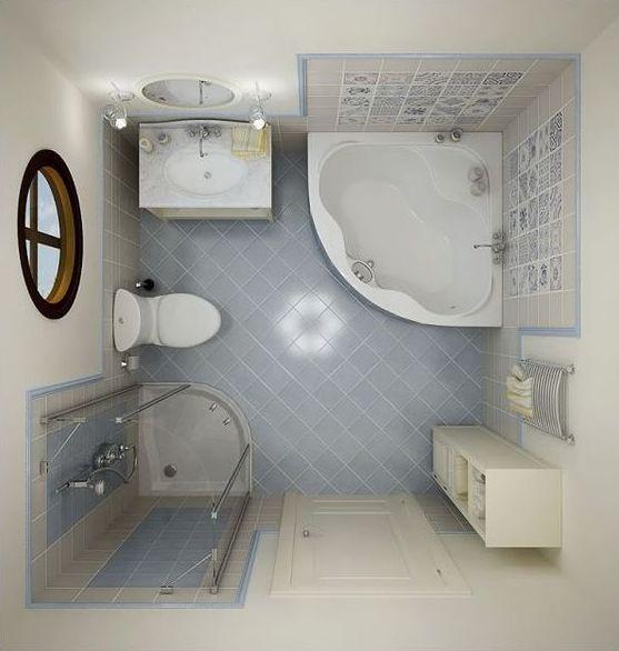 Decoração de banheiro pequeno com banheira pode, sim, ser muito especial (Foto: pinterest.com)