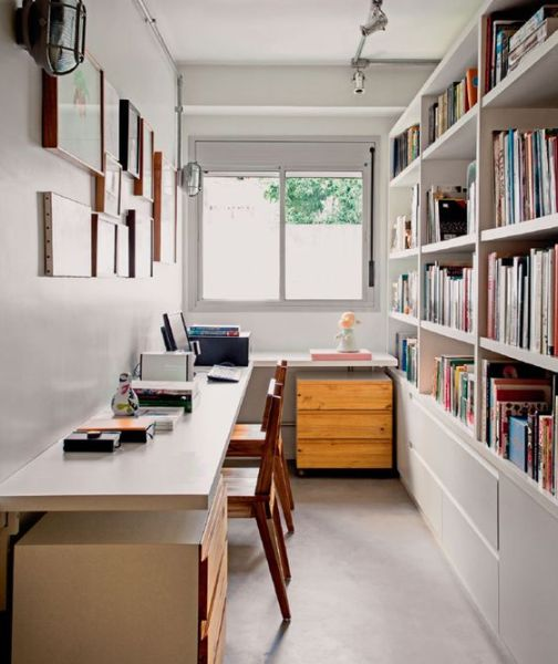 A decoração para escritório pequeno pode ter variados estilos (Foto: pinterest.com)