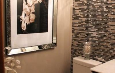 Invista agora mesmo na decoração de banheiro pequeno com pastilhas (Foto: pinterest.com)