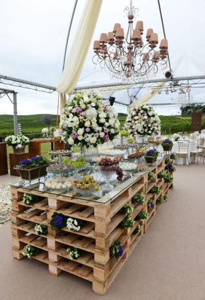 mesa para jardim rustica