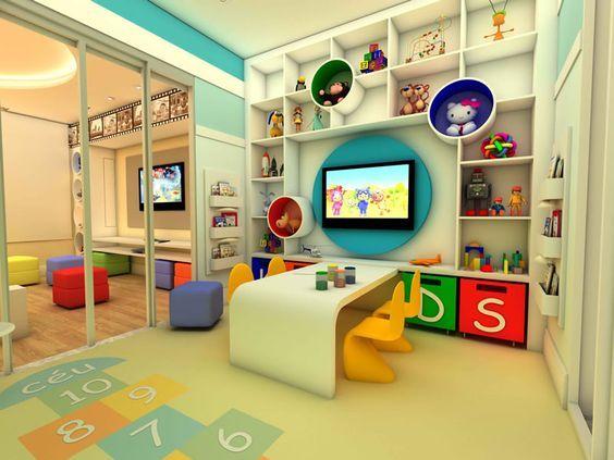 Há lindas ideias de decoração de sala de brinquedos (Foto: pinterest.com)