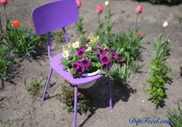Cadeira para decoração de jardim é linda, diferente e barata (Foto: dipfeed.com)