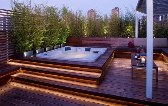 decora o e projetos 10 projetos de piscinas pequenas com deck. Black Bedroom Furniture Sets. Home Design Ideas