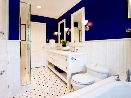 Decoração de banheiro azul é linda e traz calma (Foto: pinterest.com)