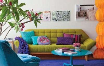 Decoração colorida para sala pequena é interessante e pode ficar bem especial (Foto: pinterest.com)