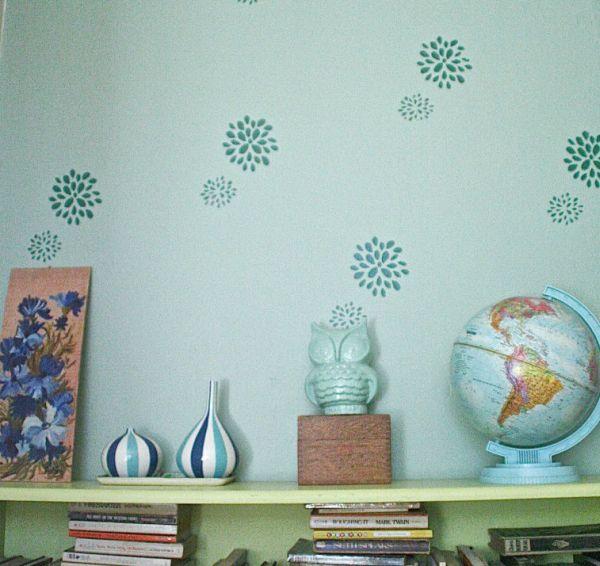 A decoração de ambiente com estêncil é linda e não exige um grande orçamento (Foto: dearhandmadelife.com)