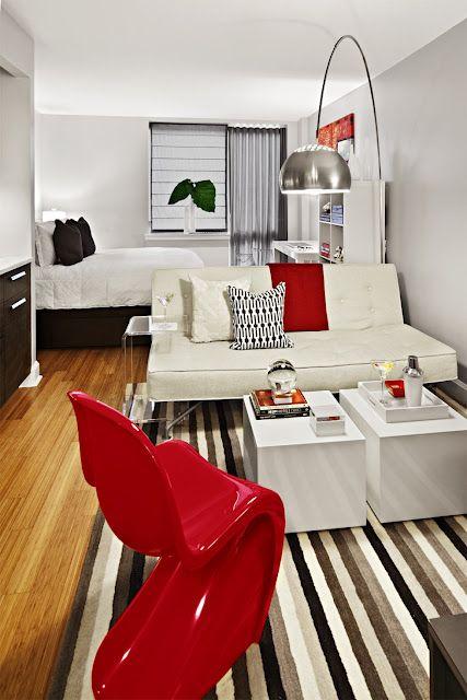 ideias decoracao kitnet:Small Studio Apartment Ideas