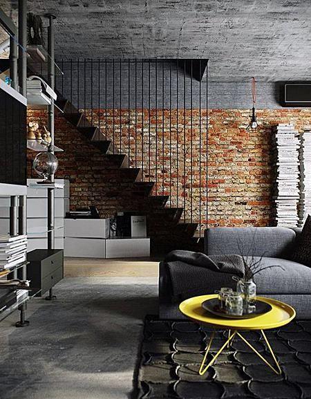 Há lindos modelos de decoração para lofts pequenos (Foto: pinterest.com)