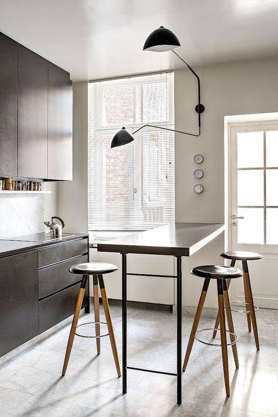 Decoração de Cozinha Pequena com Mesa