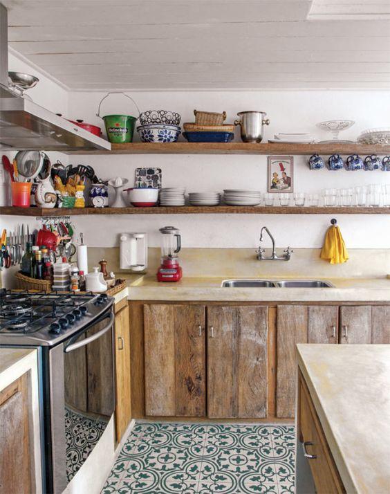 Decoração e Projetos 15 Tipos de Decoração de Cozinha com Prateleiras