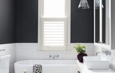 Decoração de Banheiro Preto e Branco  Fotos