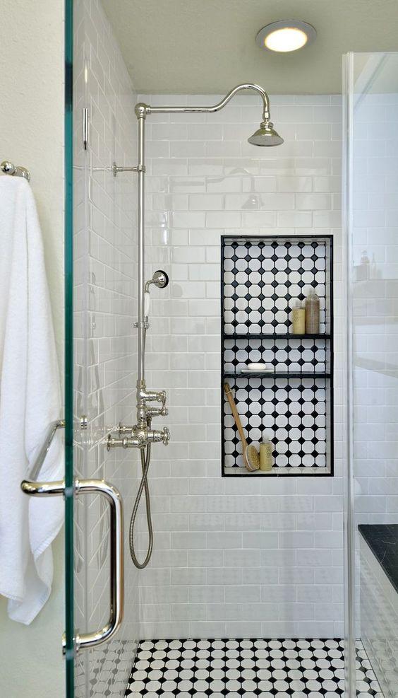 Decoração de Banheiro Preto e Branco