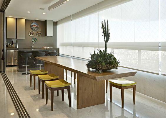 Aparador Com Gavetas Branco ~ Decoraç u00e3o e Projetos 8 Modelos de Apartamentos com Varanda Gourmet
