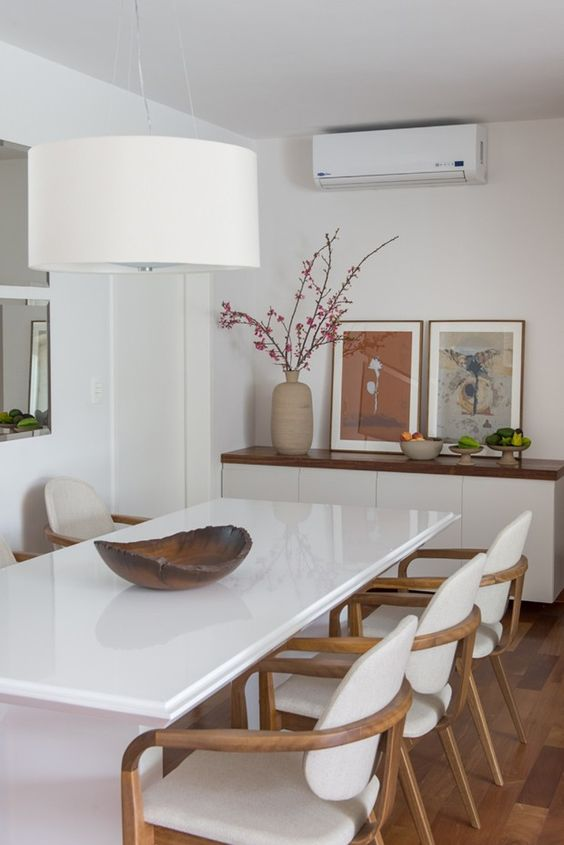 Decoracao De Sala Branca ~ decoracao sala de jantar branca Projetos – Decoração de Salas de