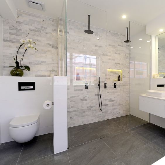 Best 20 Dual Shower Heads Ideas On Pinterest: Decoração E Projetos Fotos De Decoração De Banheiro Com