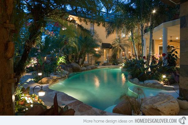 Decora o e projetos decora o de jardins pequenos com for Piscina hotel jardin de la reina