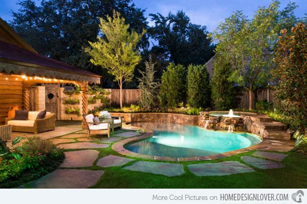 Decora o e projetos decora o de jardins pequenos com for Piscinas e jardins