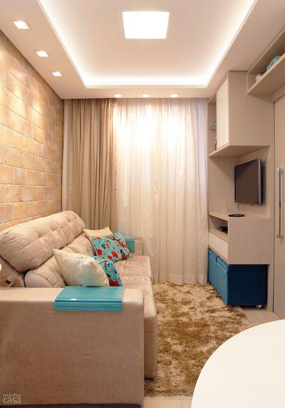 Decora o e projetos decora o de salas pequenas com - Cortinas para habitaciones pequenas ...