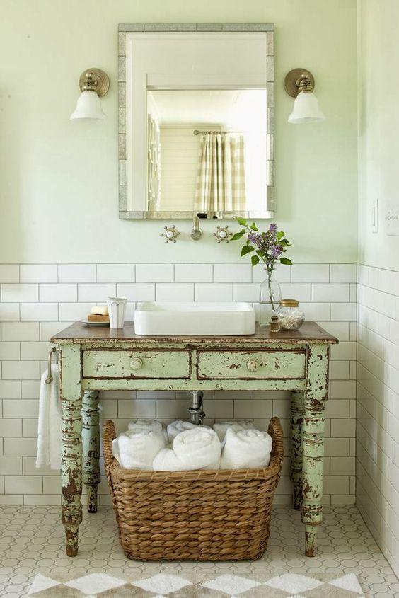 Decoração e Projetos Decoração de Banheiros Antigos -> Decoracao Para Banheiro Antigo
