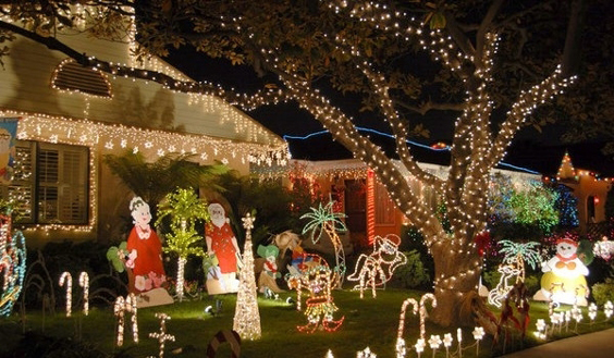 Decoraç u00e3o e Projetos Ideias de Decoraç u00e3o de Natal para Jardim -> Decoração De Natal Jardim