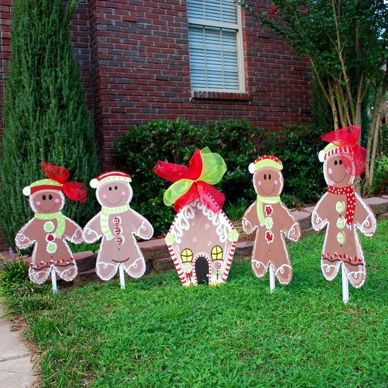 decoracao jardim natal : decoracao jardim natal:Gingerbread Man Outdoor Christmas Decorations